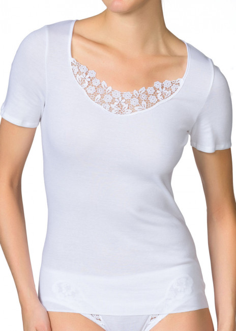 Calida Feminin Sense short-sleeve top XS-XL vit