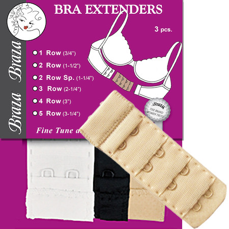 Braza Bra Extenders smal 2 radig one size
