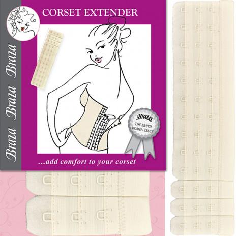 Braza Corset Extender Ivory - One Size