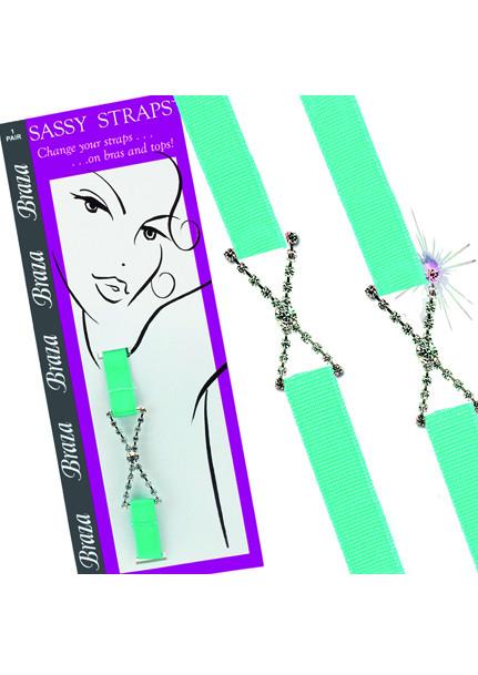 Braza Sassy straps Rhinestone X bh band turkos
