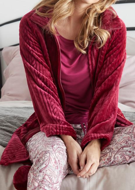 Damella morgonrock fleece 112 cm S-XXL rosa