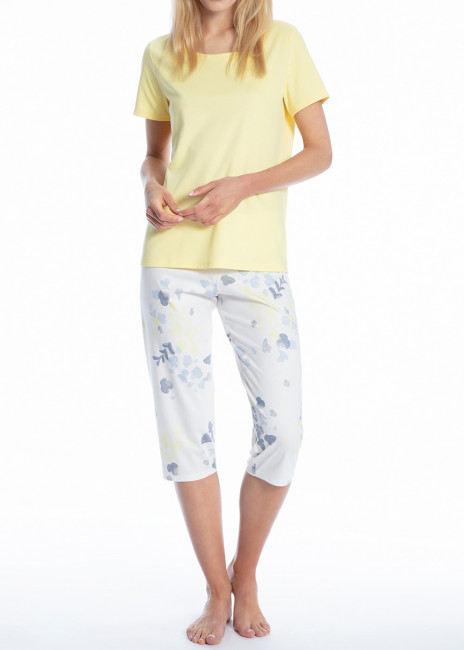 Calida Cosy Blossom 3/4 pyjamas S-L mönstrad