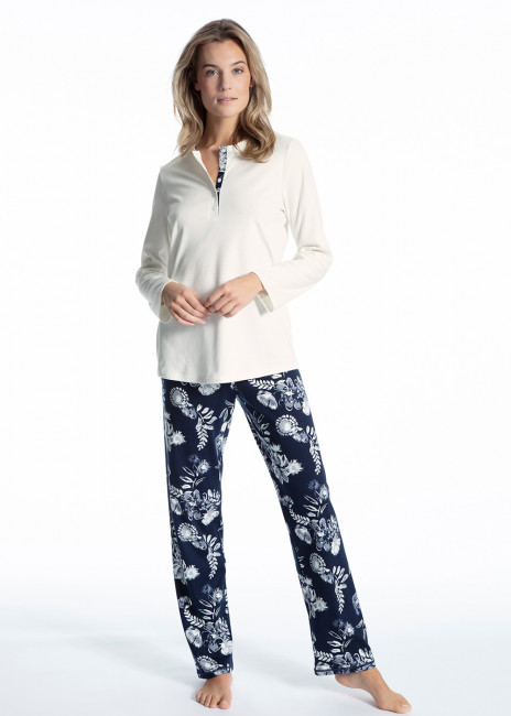 Calida Soft Flowers pyjamas XS-XL mönstrad