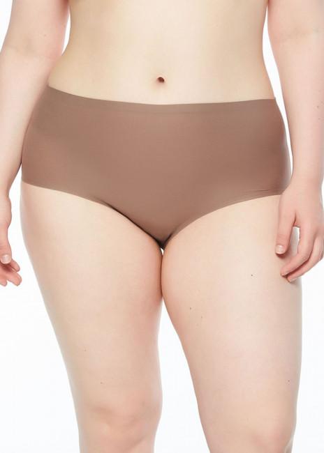 Chantelle SoftStretch brieftrosa med hög midja plus size brun