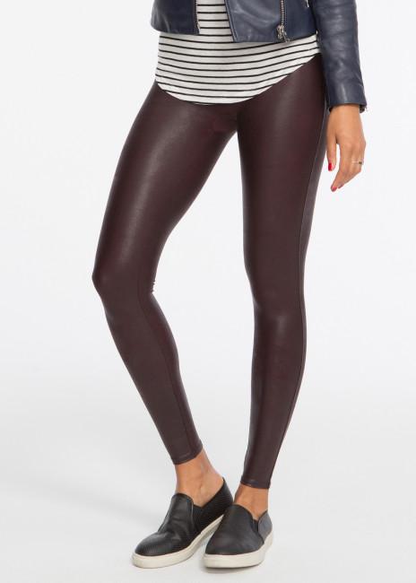 Spanx Deep Garnet faux leather leggings S-XL vinröd