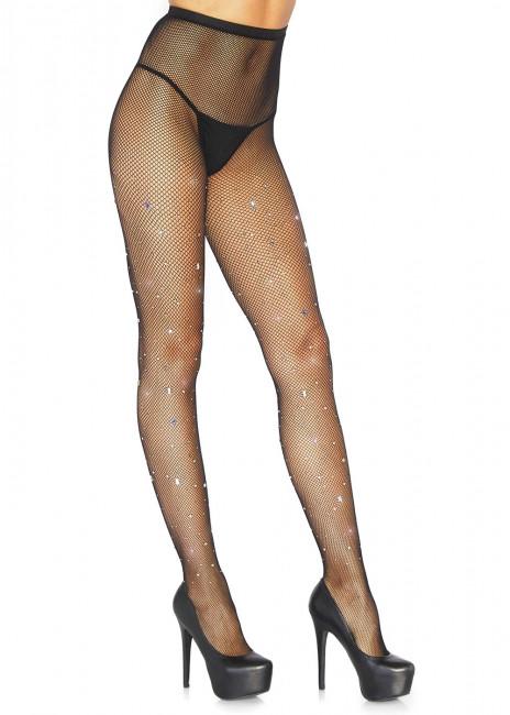 Leg Avenue strumpbyxor med strass One Size svart