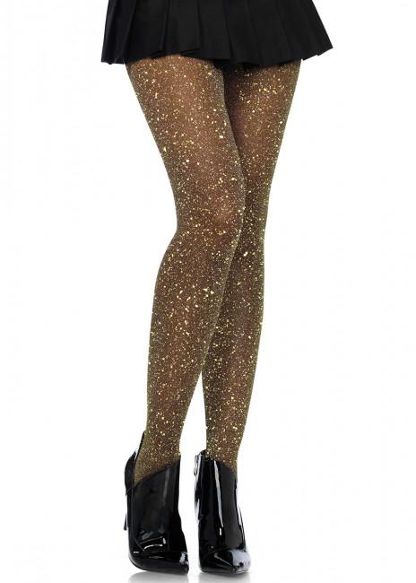 Leg Avenue lurex strumpbyxor One Size guld & svart