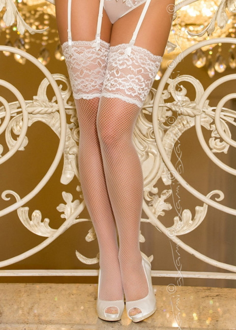 Axami Ceremony stockings S-XL vit