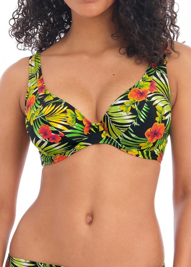 Freya Swim Maui Daze bikiniöverdel högt apex D-M kupa mönstrad