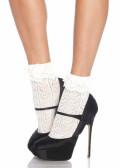 Leg Avenue Heart Lace Socks One Size