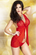 Red Lace Babydoll