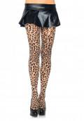 Leopardmönstrade strumpbyxor i Spandex One Size