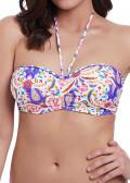 Freya Swim Indio bikiniöverdel bandeau C-I kupa mönstrad