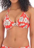 Freya Swim Hibiscus Beach bikiniöverdel halterneck D-H kupa mönstrad