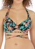 Freya Swim Wild Daisy bikiniöverdel halterneck C-K-kupa mönstrad