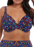 Elomi Swim Aztec plunge bikiniöverdel E-L kupa mönstrad