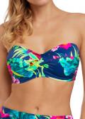 Fantasie Swim Amalfi bandeau bikiniöverdel D-I kupa mönstrad