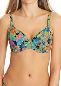 Freya Island Girl Plunge Bikiniöverdel D-L kupa mönstrad