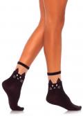 Leg Avenue Black Cat Ankelstrumpor One Size