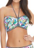 Freya Swim Tropicool vadderad bandeau bikinitopp B-I kupa multi