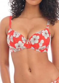 Freya Swim Hibiscus Beach bikiniöverdel plunge D-L kupa mönstrad