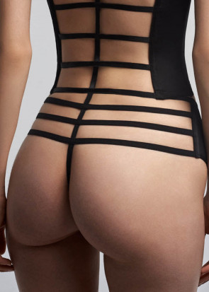 Marlies Dekkers Leading Strings bred stringtrosa S-XL svart