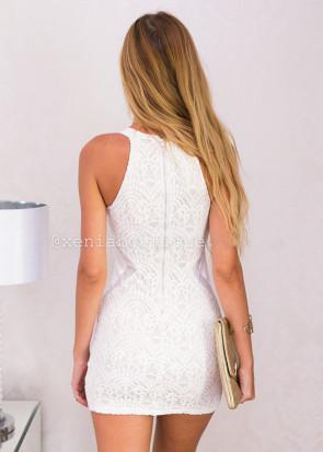 Xenia higher love bodycon dress XS-L vit