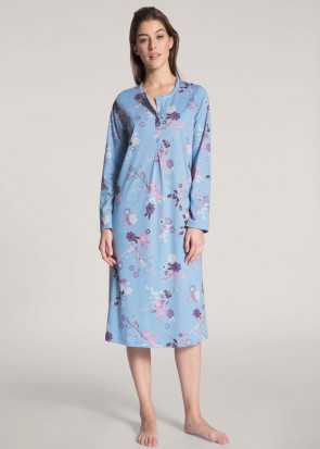 Calida Cosy Cotton Nights Nightdress XS-XL Light Blue