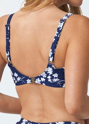 Abecita Blue Flower bikiniöverdel B-F kupa navy