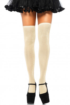 Lurex Glitter Thigh Highs
