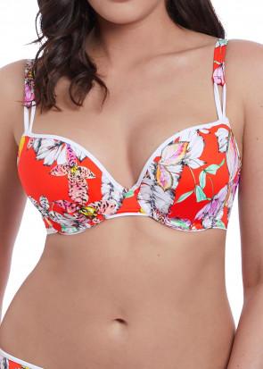 Freya Swim Wild Flower formpressad bikiniöverdel D-J kupa mönstrad