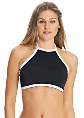 Freya Swim Back To Black Bikiniöverdel crop top D-H kupa svart