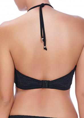 Freya Swim Sundance virkad vadderad bikinitopp D-H kupa svart