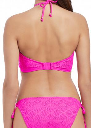 Freya Swim Sundance virkad vadderad bikinitopp D-I kupa rosa