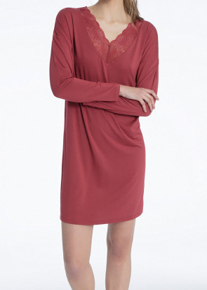 Calida Jaina långärmat nattlinne 90cm XXS - L röd