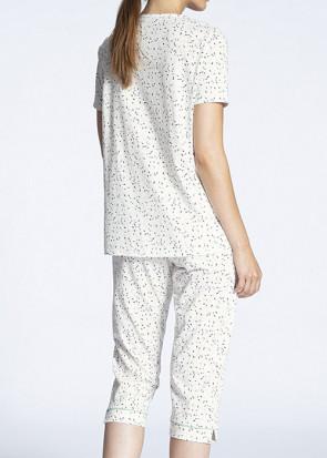 Calida Cosy Cotton Jersey 3/4 pyjamas XS-M multi