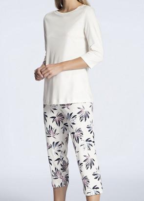 Calida Cosy Flowers 3/4 pyjamas S-M vit
