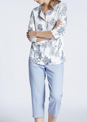 Calida Cosy Cotton Fair 3/4 pyjamas S blå