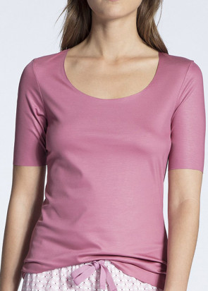 Calida Natural Luxe short sleeve shirt XXS-L rosa