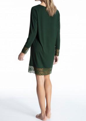 Calida Cosy Glam långärmad sovskjorta XXS-L mörkgrön