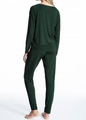 Calida Cosy Glam pyjamas XXS-L mörkgrön