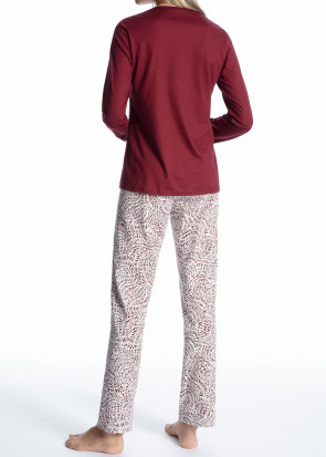 Calida Cosy Cotton Trend pyjamas XS-L röd