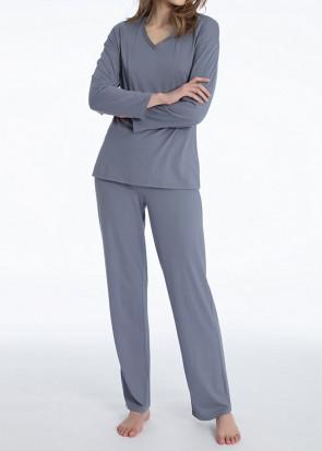 Calida Jacinda pyjamas XXS-L gråblå