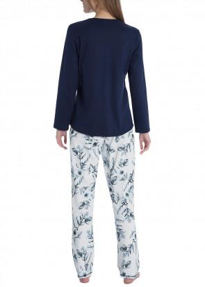 Calida Rosanna pyjamas XS-XL blå