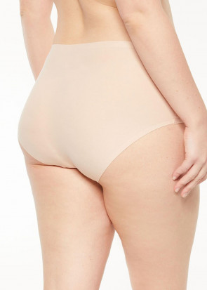 Chantelle SoftStretch brieftrosa med hög midja plus size ljusbeige