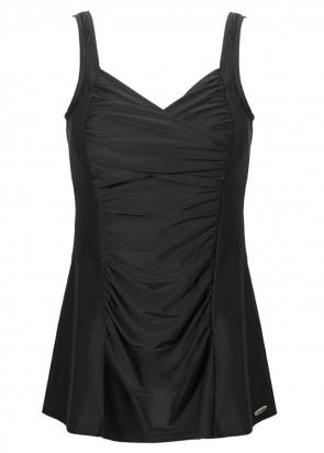 Damella baddräkt med kjol 38-48 svart