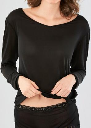 Damella långärmad tröja XS-XXL svart