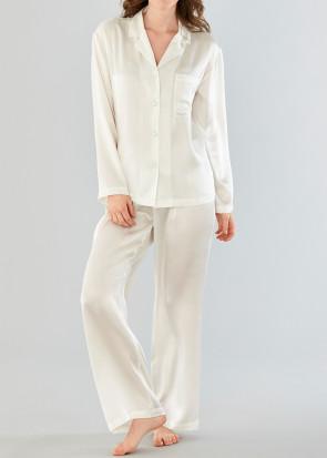 Damella pyjamas silke XS-XL vit
