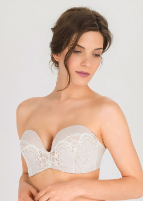 Wonderbra Glamour Perfect Strapless Bra D-I kupa vit