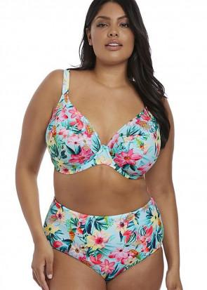 Elomi Swim Aloha bikiniöverdel plunge 95J mönstrad